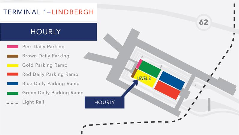 Terminal 1 hourly parking map