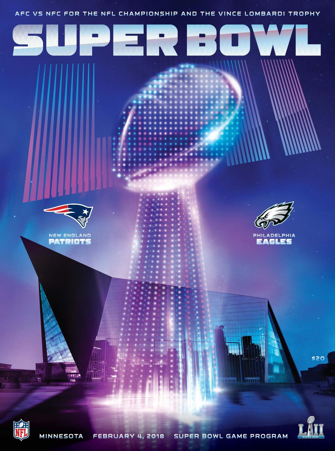 Super Bowl program cover