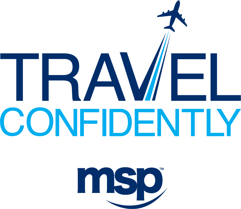 Travel Confidently Logo - Stacked PNG