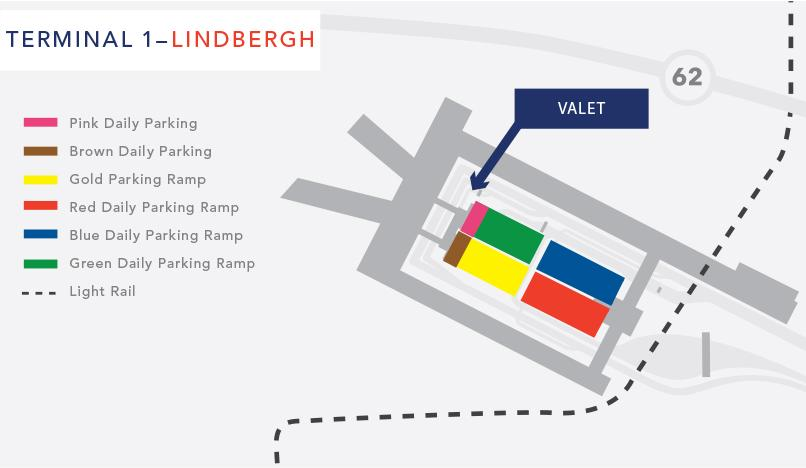 Terminal 1 Valet parking map