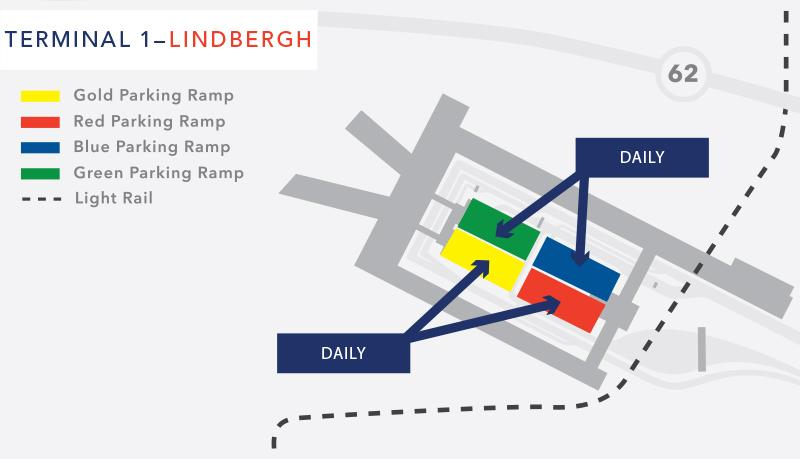 terminal 1 daily parking map