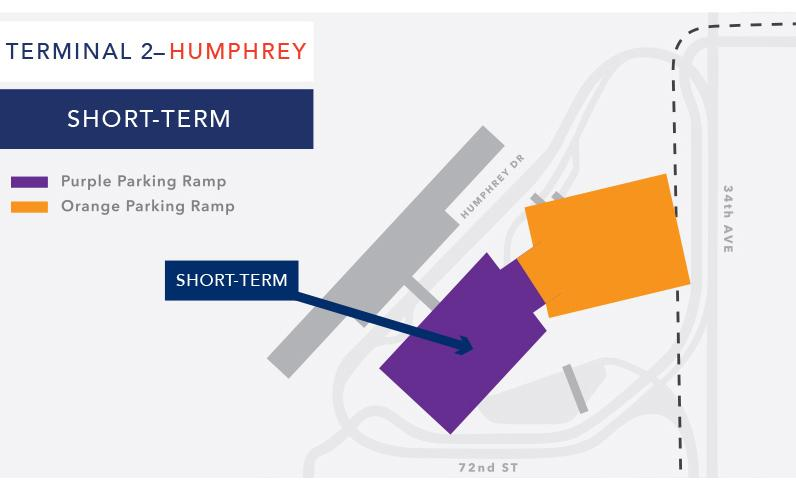 Terminal 2 short-term parking map