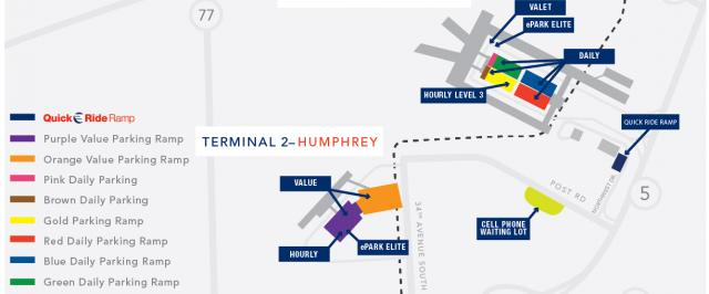 parking msp airport MSP Airport Map Terminal 1 $65 per month standard parking rates