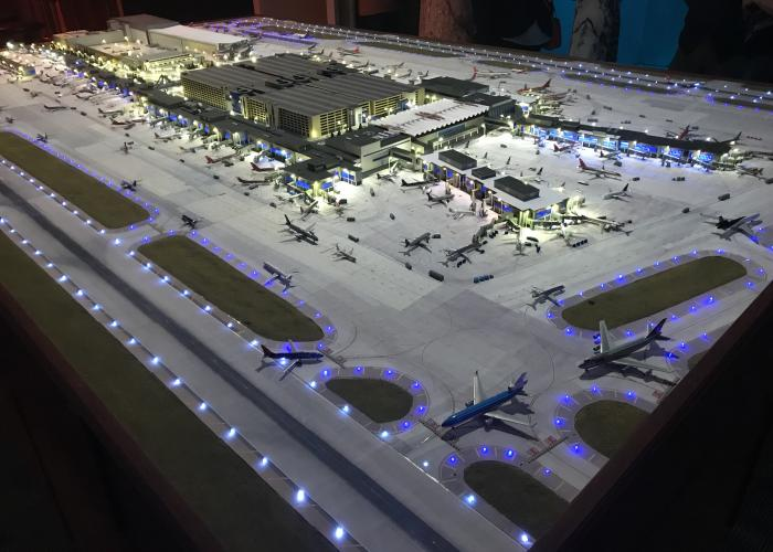 photograph of MSP airport replica