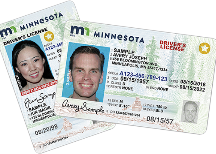 REAL ID example images